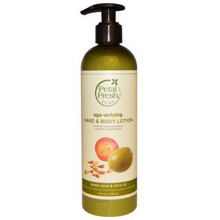 Petal Fresh, Pure, Age-Defying Hand&Body Lotion, Grape Seed&Olive Oil 355ml