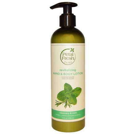 Petal Fresh, Pure, Revitalizing Hand&Body Lotion, Rosemary&Mint 355ml