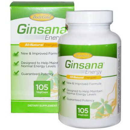Pharmaton Natural Health, Ginsana Energy, 105 Veggie Caps