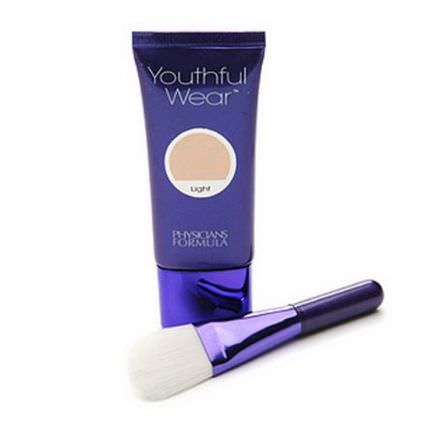 Physician's Formula, Inc. Youthful Wear, Cosmeceutical Youth Boosting Foundation Brush, Light 29g