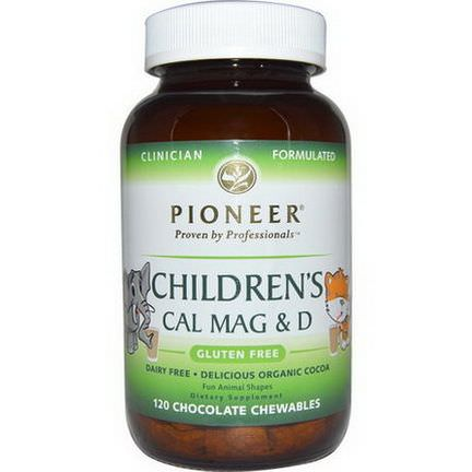 Pioneer Nutritional Formulas, Children's Cal Mag&D, Chocolate Flavor, 120 Chewables