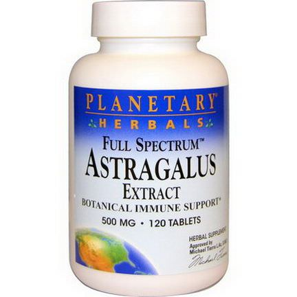 Planetary Herbals, Astragalus Extract, Full Spectrum, 500mg, 120 Tablets