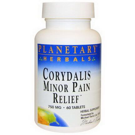 Planetary Herbals, Corydalis Minor Pain Relief, 750mg, 60 Tablets