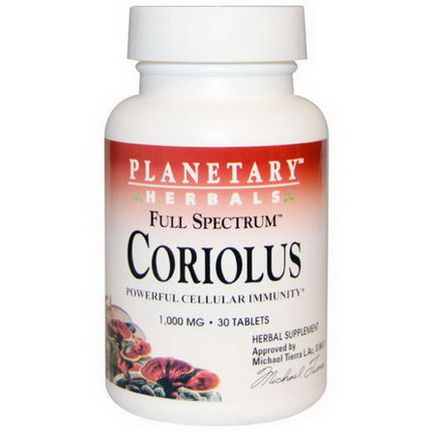 Planetary Herbals, Full Spectrum Coriolus, 1,000mg, 30 Tablets