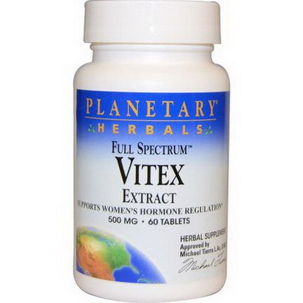 Planetary Herbals, Full Spectrum, Vitex Extract, 500mg, 60 Tablets