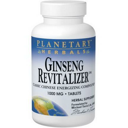 Planetary Herbals, Ginseng Revitalizer, 1,000mg, 180 Tablets