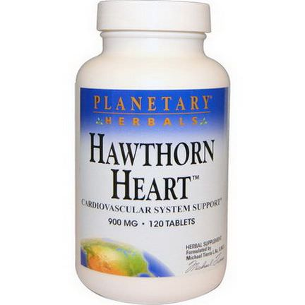 Planetary Herbals, Hawthorn Heart, 900mg, 120 Tablets