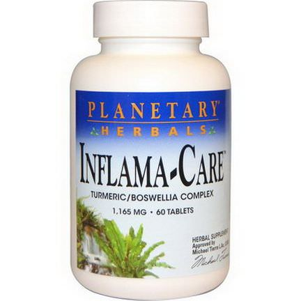 Planetary Herbals, Inflama-Care, 1,165mg, 60 Tablets