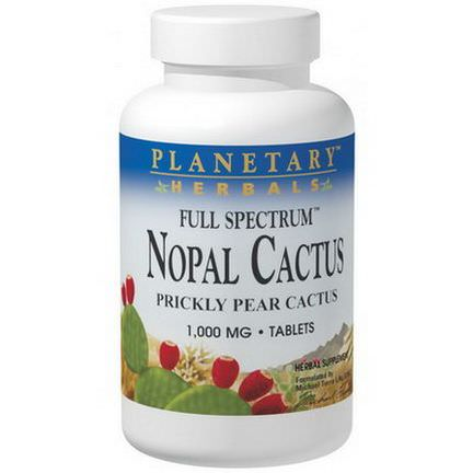 Planetary Herbals, Nopal Cactus, Full Spectrum, Prickly Pear Cactus, 1,000mg, 120 Tablets