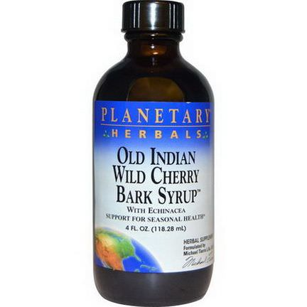 Planetary Herbals, Old Indian Wild Cherry Bark Syrup 118.28ml
