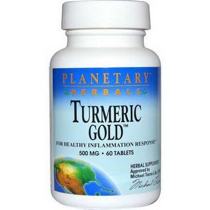 Planetary Herbals, Turmeric Gold, 500mg, 60 Tablets