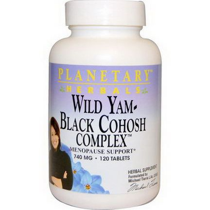 Planetary Herbals, Wild Yam - Black Cohosh Complex, 740mg, 120 Tablets