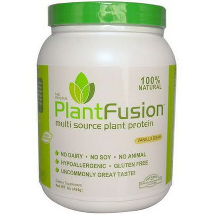PlantFusion, Multi Source Plant Protein, Vanilla Bean 454g