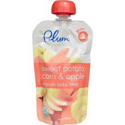 Plum Organics, Baby Food, Stage 2, Sweet Potato Corn&Apple 113g