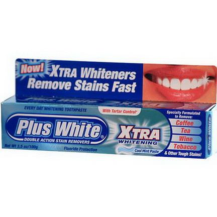 Plus White, Xtra Whitening with Tartar Control, Cool Mint Paste 100g