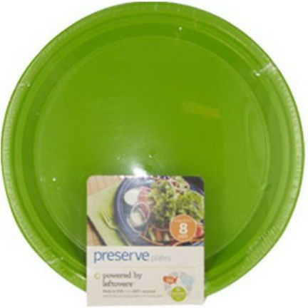 Preserve, Reusable Plates, Apple Green, Large 10.5 in, 8-Pack