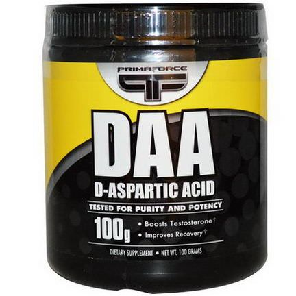 Primaforce, DAA, D-Aspartic Acid, 100g