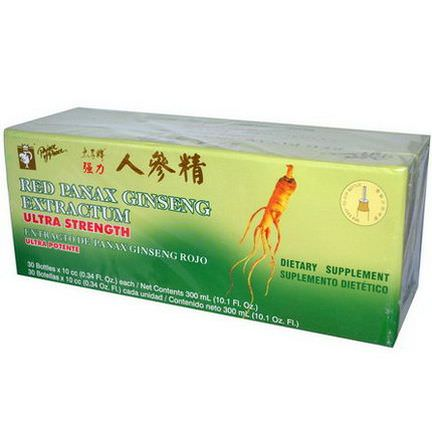 Prince of Peace, Red Panax Ginseng Extractum, Ultra Strength, 30 Bottles 10 cc Each