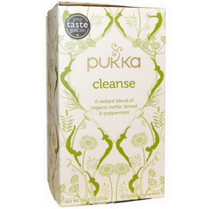 Pukka Herbs, Cleanse, Organic Nettle, Fennel&Peppermint Tea, Caffeine Free, 20 Herbal Tea Sachets 36g