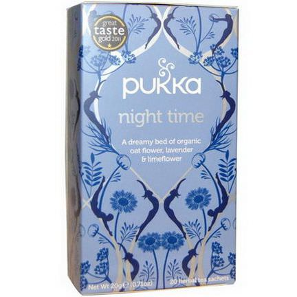 Pukka Herbs, Night Time Tea, Caffeine Free, 20 Herbal Tea Sachets 20g