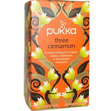Pukka Herbs, Three Cinnamon Tea, Caffeine Free, 20 Herbal Tea Sachets 40g