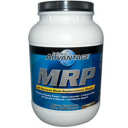 Pure Advantage, MRP, Meal Replacement Shake, Chocolate 1380g