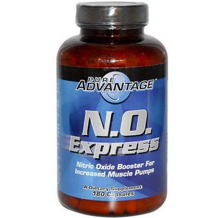 Pure Advantage, N.O. Express, Nitric Oxide Booster, 180 Capsules