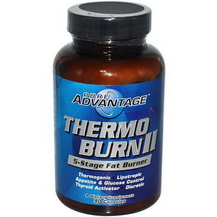 Pure Advantage, Thermo Burn II, 5-Stage Fat Burner, 90 Capsules