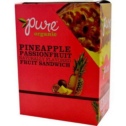 Pure Bar, Organic, Fruit Sandwich, Pineapple Passionfruit, 20 Bars 18g Each