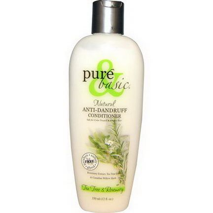 Pure&Basic, Natural Anti-Dandruff Conditioner, Tea Tree&Rosemary 350ml