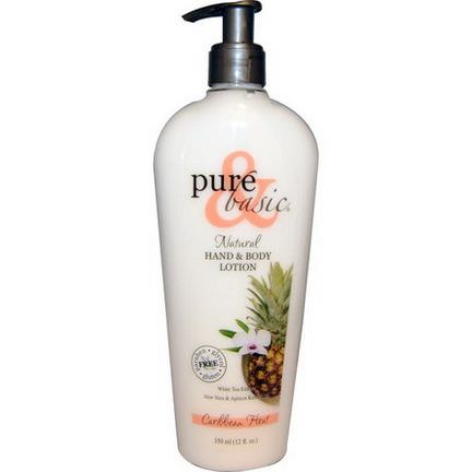 Pure&Basic, Natural Hand&Body Lotion, Caribbean Heat 350ml