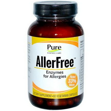 Pure Essence, AllerFree, Enzymes for Allergies, 60 Veggie Caps