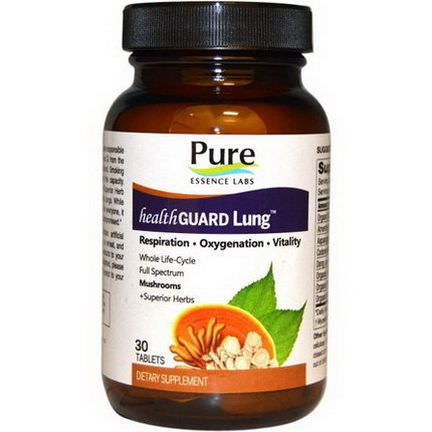 Pure Essence, Health Guard Lung, 30 Tablets