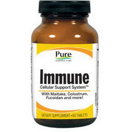 Pure Essence, Immune, Cellular Support System, 60 Tablets