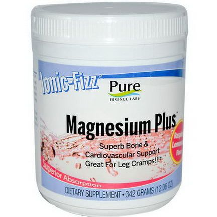 Pure Essence, Ionic-Fizz, Magnesium Plus, Raspberry Lemonade Flavor 342g