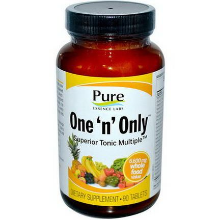 Pure Essence, One'n'Only, Superior Tonic Multiple, 90 Tablets