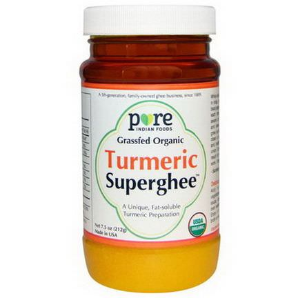 Pure Indian Foods, Grassfed Organic, Turmeric Superghee 212g
