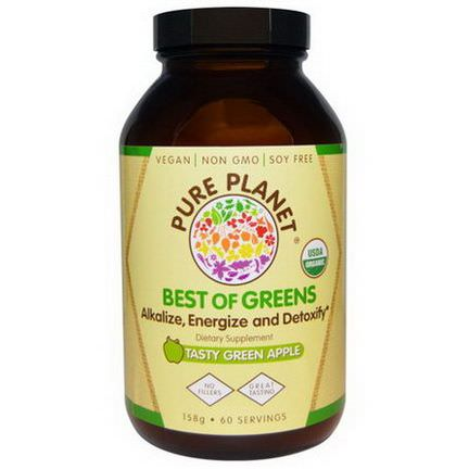 Pure Planet, Best of Greens, Tasty Green Apple, 158g