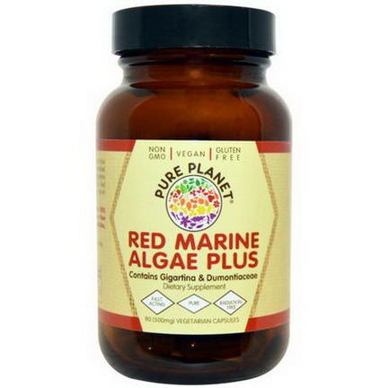 Pure Planet, Red Marine Algae Plus, 500mg, 90 Veggie Caps