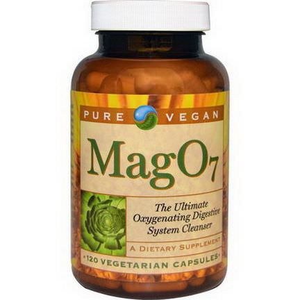 Pure Vegan, Mag O7, The Ultimate Oxygenating Digestive System Cleanser, 120 Veggie Caps