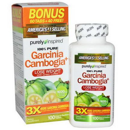 Purely Inspired, Garcinia Cambogia+, 1600mg, 100 Tablets