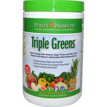 Purity Products, Triple Greens 364.8g