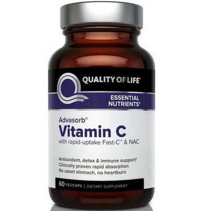 Quality of Life Labs, Advasorb, Vitamin C, 60 Vegicaps