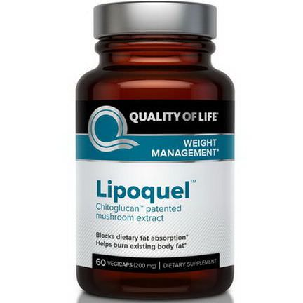 Quality of Life Labs, Lipoquel, Weight Management, 200mg, 60 Veggie Caps