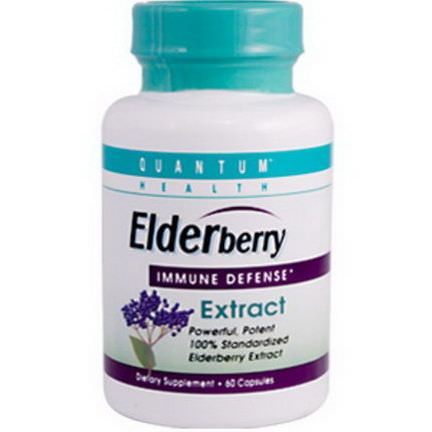 Quantum Health, Elderberry Immune Defense Extract, 60 Capsules