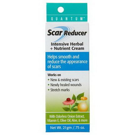 Quantum Health, Scar Reducer, Intensive Herbal Nutrient Cream 21g