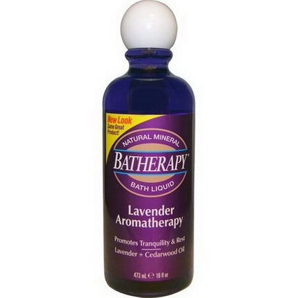 Queen Helene, Batherapy Natural Mineral Bath Liquid, Lavender Aromatherapy 473ml