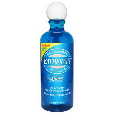 Queen Helene, Batherapy, Natural Mineral Bath Liquid, Sport 473ml