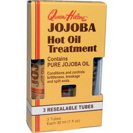 Queen Helene, Jojoba Hot Oil Treatment, 3 Resealable Tubes 30ml Each
