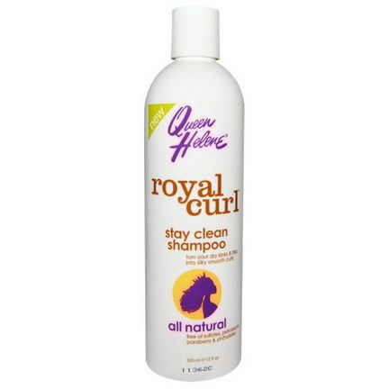 Queen Helene, Royal Curl, Stay Clean Shampoo 355ml